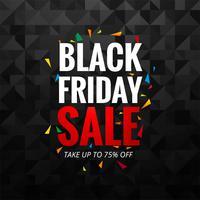 Vetor de fundo abstrato layout de venda sexta-feira negra