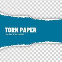 papel rasgado cor azul vetor