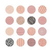 coleção de capas de destaque em mídia social geométrica abstrata criativa vetor