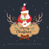 Feliz Natal Design De Cartão De Saudação. Ilustração vetorial vetor