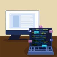 computador e laptop vetor