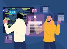 programadores com sites vetor