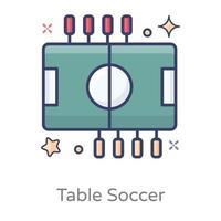design de futebol de mesa vetor