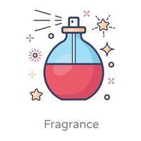 Frasco de perfume de fragrância vetor