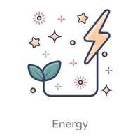 estação de energia ecológica vetor