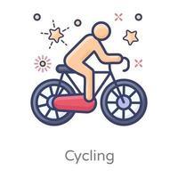 design de esportes de ciclismo vetor