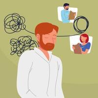 paciente psicólogo emaranhado vetor