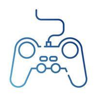 ícone de estilo gradiente de controle de videogame vetor