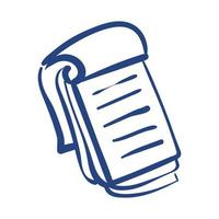 notebook material escolar de forma livre vetor