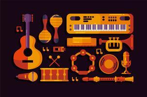 Vetor de instrumento musical