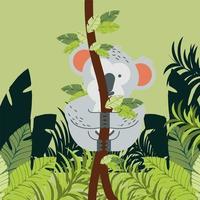 folhagem de ramo de coala vetor