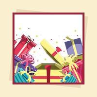 caixas de presente de aniversário vetor