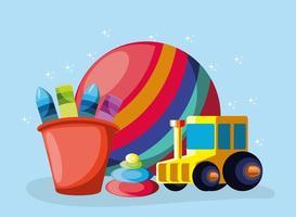 desenho animado de brinquedos infantis vetor