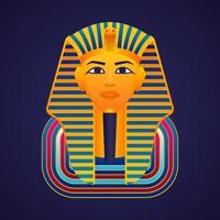 Faraós de ouro egípcia máscara ícone Vector Illustration
