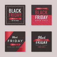 sexta-feira negra social media post vector