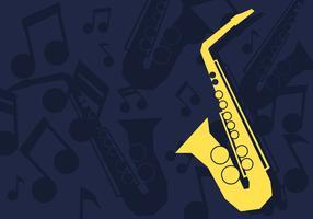 Ilustração vetorial de saxofone vetor