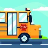 transporte de ônibus escolar vetor