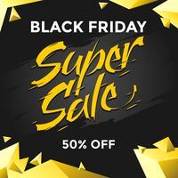 Black Friday Super Venda Social Media Post Vector