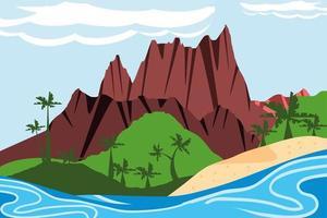 paisagem ilha tropical vetor