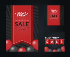 Black Friday Social Media Design Vector Modelo
