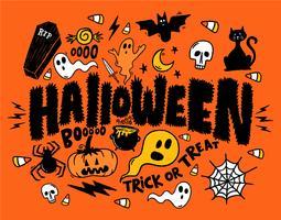 Colagem de fantasmas de Halloween