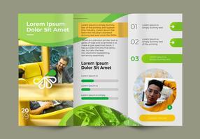 Vetor de modelo de brochura de negócios profissional verde fresco