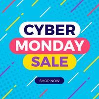 Banner de venda segunda-feira cibernética vetor