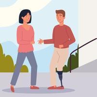 casal com deficiência vetor