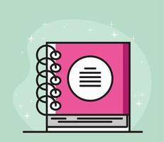 suprimento de notebook com espiral vetor