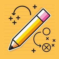 estratégia de lápis de ideia vetor