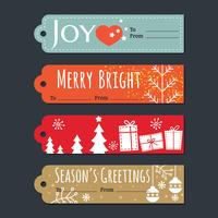 Tags do presente de Natal feriado e conjunto de rótulos vetor