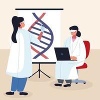 pesquisa de DNA genético vetor