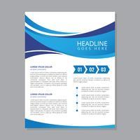 Modelo de Folheto - negócio moderno vetor
