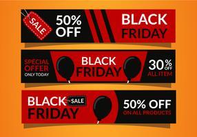 Modelo de Banners de venda de sexta-feira negra vetor