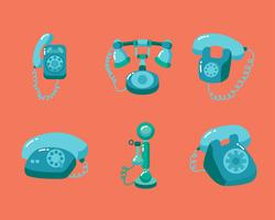 Vetor de telefone rotativo