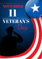 Cartão do Dia dos Veteranos vetor