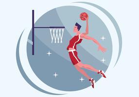 Vetor de ilustração de basquete