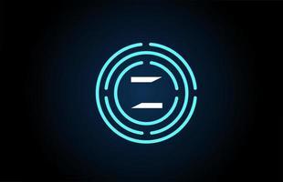 z design de ícone de letra branca com círculos azuis. design de logotipo do alfabeto. branding para produtos e empresa vetor