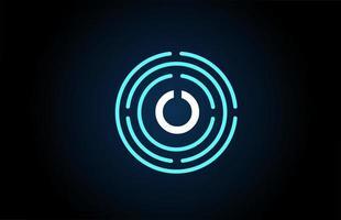 o design de ícone de letra branca com círculos azuis. design de logotipo do alfabeto. branding para produtos e empresa vetor