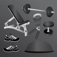 Equipamentos de fitness vetor
