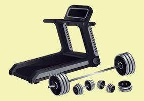 Vetor de equipamentos de fitness
