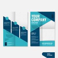 Modelos de brochura de negócios criativos geométricos profissional vetor
