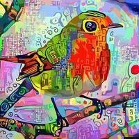 pintura de retrato impressionista abstrata robin vetor