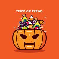 Vetor de doces de Halloween