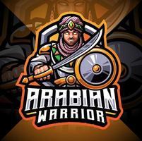 design do logotipo do mascote dos guerreiros árabes vetor
