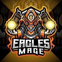 logotipo do mascote águias mage esport vetor