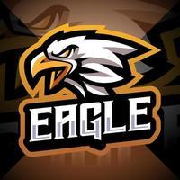 design do logotipo do mascote esport da cabeça de águia vetor