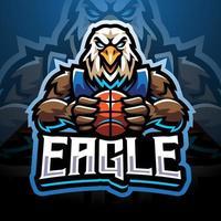 desenho do logotipo do mascote esportivo águia vetor