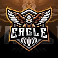 design do logotipo do mascote águia esport vetor