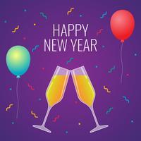 Feliz Ano Novo Luxo Comemoração Toast